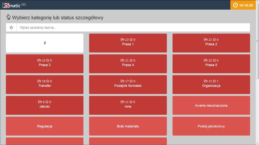 Panel -status szczegółowy